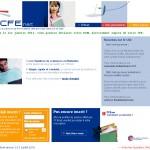 Image de la page d'accueil du site web CFE net