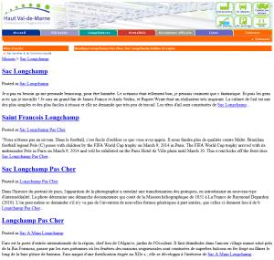Page de contenu spam / hack du site Agglo