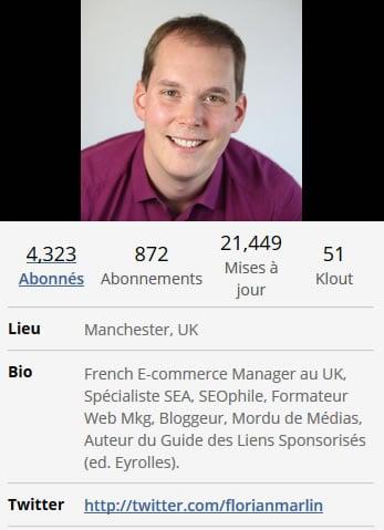 Bio Twitter Florian Marlin
