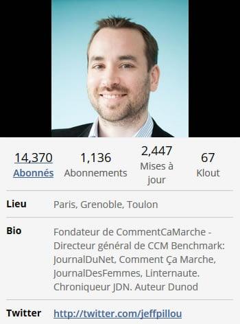 Bio Twitter Jeff Pilou