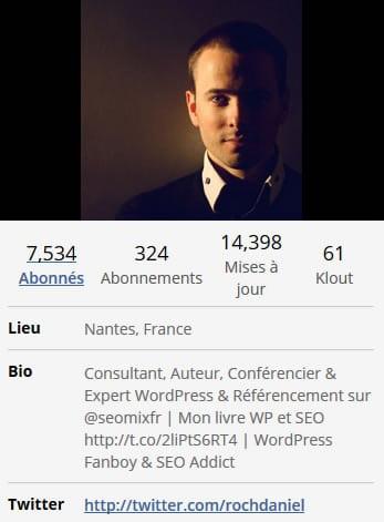 Bio Twitter Daniel Roch