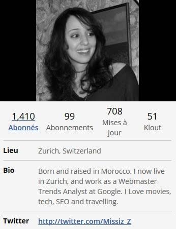 Bio Twitter Zineb Ait Bahajji
